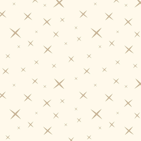 AVAILABLE FOR PREORDER, Jay-Cyn Designs for Birch Organic Fabrics, Hoshi, WIDE POPLIN, Cream Fawn
