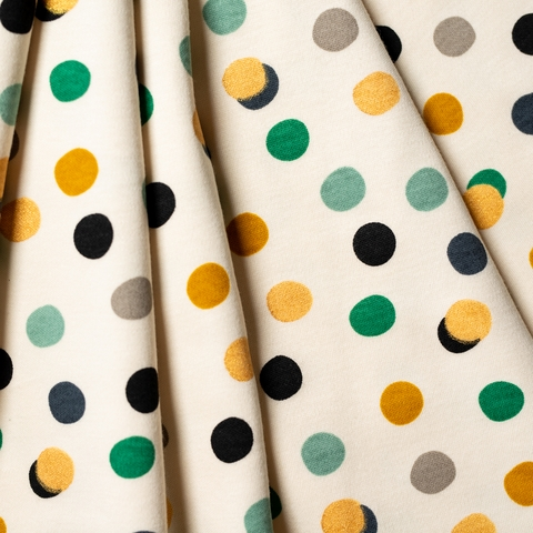 Jay-Cyn Designs for Birch Organic Fabrics, Tonoshi Knit, Mochi Dot Boy Metallic Gold