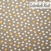 Jay-Cyn Designs for Birch Organic Fabrics, Tonoshi Knit, Mochi Dot Shroom Metallic Gold