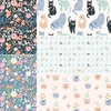 PREORDER NOW, Jenny Ronen for Birch Organic Fabrics, Kitty Garden in FAT QUARTERS 5 Total
