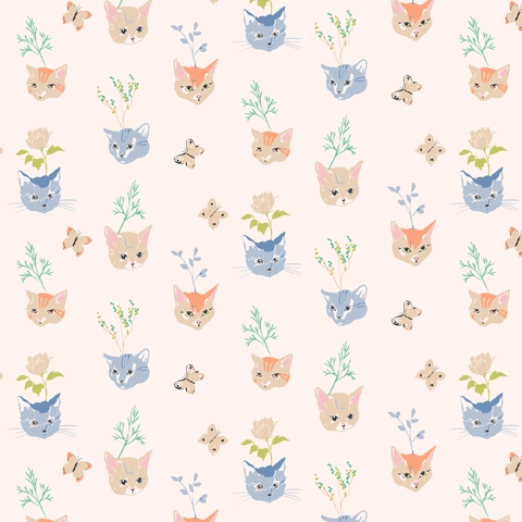 PREORDER NOW, Jenny Ronen for Birch Organic Fabrics, Kitty Garden, Kitty Garden Main