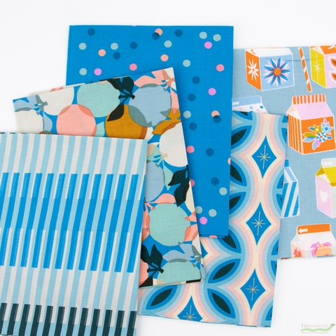 Melody Miller for Ruby Star Society, Clementine, Blue in FAT QUARTERS 5 Total