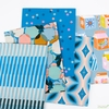 Melody Miller for Ruby Star Society, Clementine, Fruity Stripes Bright Blue
