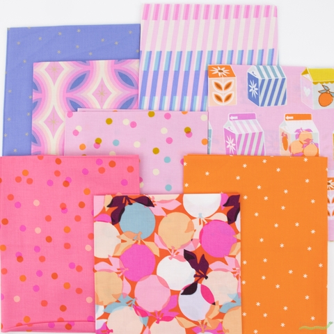 Melody Miller for Ruby Star Society, Clementine, Peony in FAT QUARTERS 8 Total