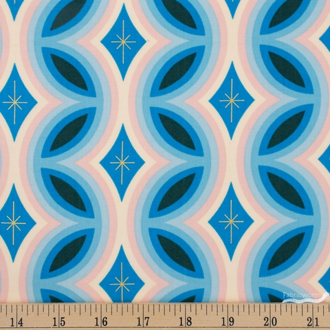 Melody Miller for Ruby Star Society, Clementine, Rattan Metallic Bright Blue