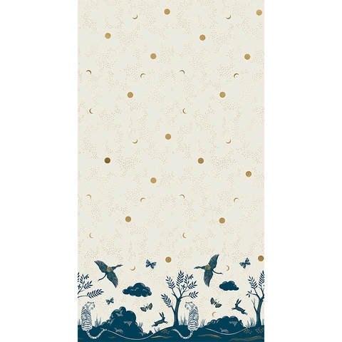 "Sarah Watts for Ruby Star Society, Tiger Fly, Chrysalis Metallic Shell Border Print (24"" Panel)"