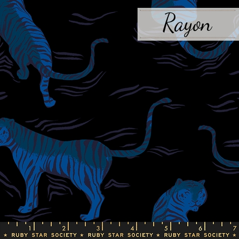 Sarah Watts for Ruby Star Society, Tiger Fly Rayon, Tigress Black