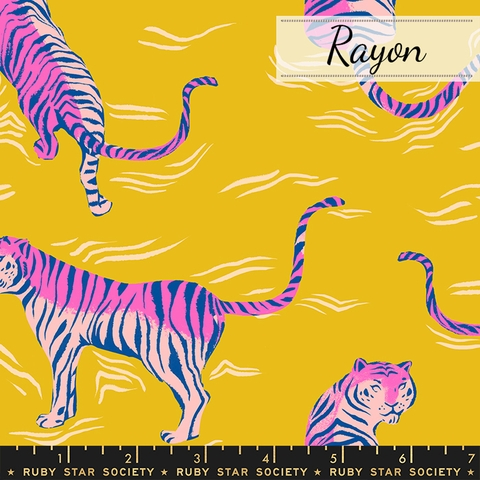 Sarah Watts for Ruby Star Society, Tiger Fly Rayon, Tigress Yellow