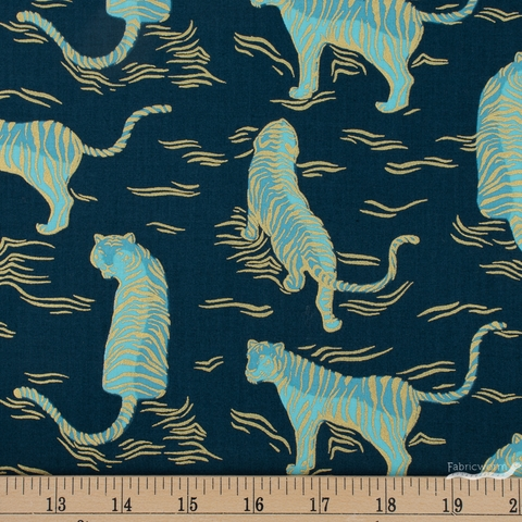 Sarah Watts for Ruby Star Society, Tiger Fly, Tigress Metallic Dark Teal