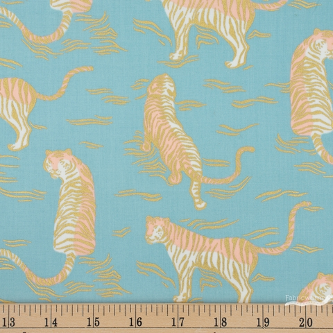 PREORDER NOW, Sarah Watts for Ruby Star Society, Tiger Fly, Tigress Metallic Soft Blue