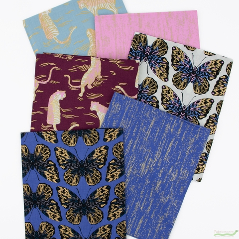 Sarah Watts for Ruby Star Society, Tiger Fly, Twilight in FAT QUARTERS 6 Total