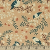 Teagan White for Birch Organic Fabrics, Best of Teagan White, Birds and Branches Coral