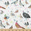 Betsy Olmsted for Windham Fabrics, Fox Wood, Bird Season White