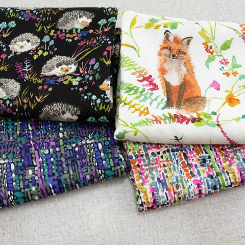 Betsy Olmsted for Windham Fabrics, Fox Wood Canvas, Tweed Multi
