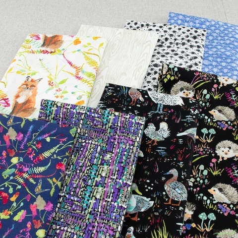 Betsy Olmsted for Windham Fabrics, Fox Wood, Garden Navy