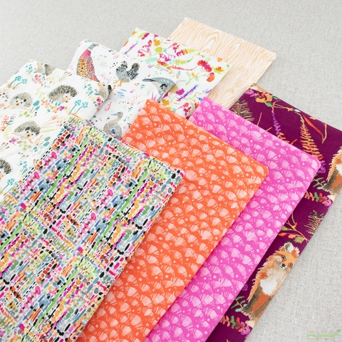 Betsy Olmsted for Windham Fabrics, Fox Wood, Hedgehog Fable Bundle 8 Total
