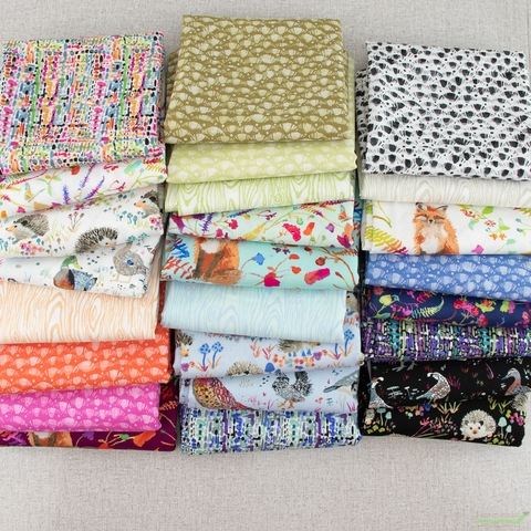 Betsy Olmsted for Windham Fabrics, Fox Wood, Hedgehogs Black