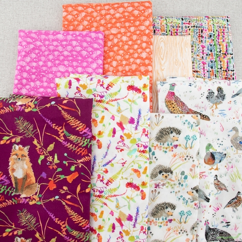 Betsy Olmsted for Windham Fabrics, Fox Wood, Hedgehogs White