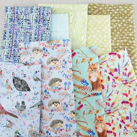 Betsy Olmsted for Windham Fabrics, Fox Wood, Leaf Olive