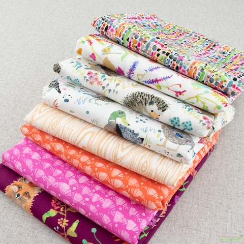 Betsy Olmsted for Windham Fabrics, Fox Wood, Tweed Multi