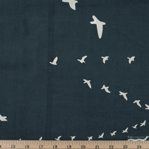 Birch Organic Fabrics, Birch Basics, Flight Dusk