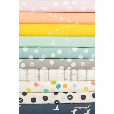 Birch Organic Fabrics, Birch Basics in FAT QUARTERS 10 Total (PRECUT)
