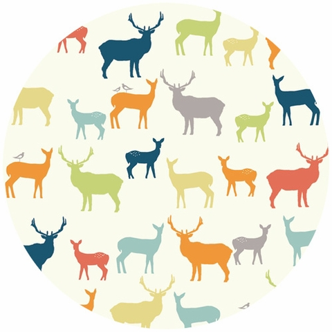 Birch Organic Fabrics, DOUBLE GAUZE, Elk Family Multi