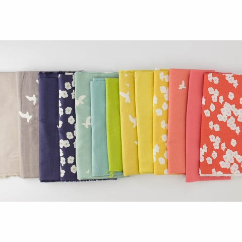 Birch Organic Fabrics, DOUBLE GAUZE, Flight Sun