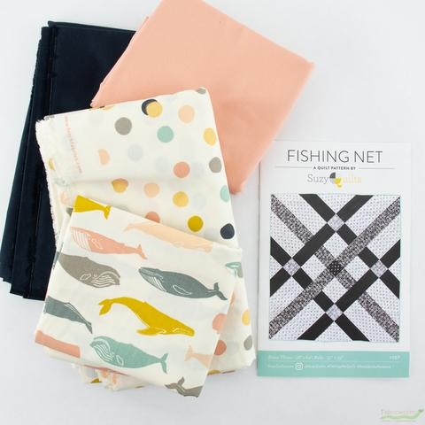 Birch Organic Fabrics, Fishing Net Quilt Kit Featuring Tonoshi