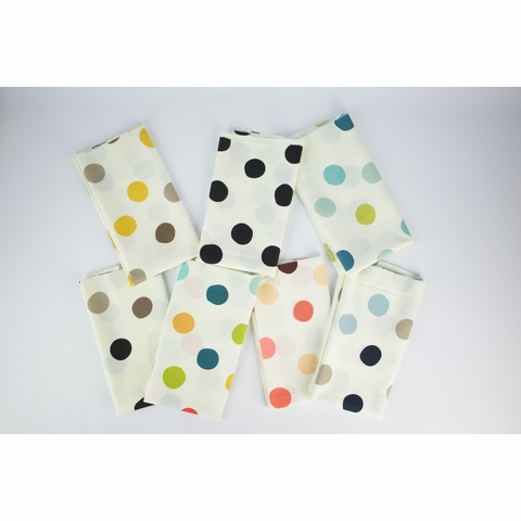 Birch Organic Fabrics, Mod Basics 3, KNIT, Pop Dots Golden