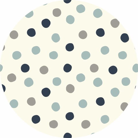 Birch Organic Fabrics, Mod Basics 3, KNIT, Pop Dots Stormy