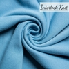 Birch Organic Fabrics, Mod Basics Interlock Knit, Solid Periwinkle