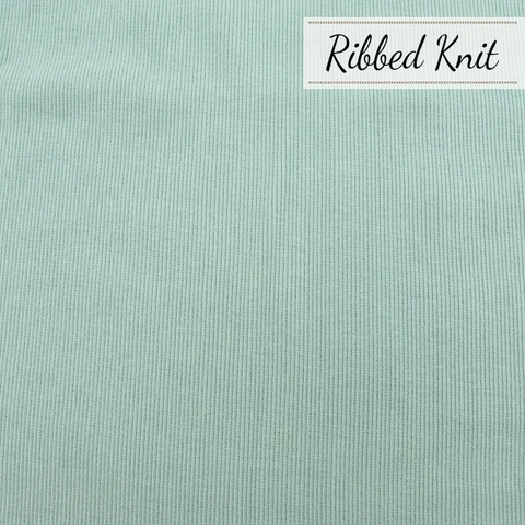 Birch Organic Fabrics, Ribbed Knit, Solid Mineral