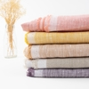 Birch Organic Fabrics, Yarn Dyed and Solid Linen, Dawn in Wide Width FAT QUARTERS 5 Total