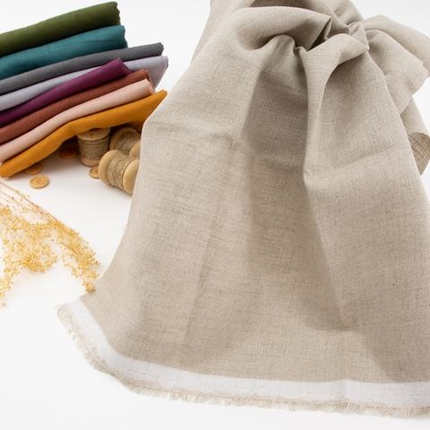 Birch Organic Fabrics, Yarn Dyed Linen, Natural