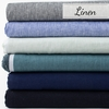 Birch Organic Fabrics, Yarn Dyed and Solid Linen, Nightfall in Wide Width FAT QUARTERS 6 Total