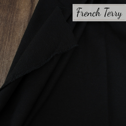 Birch Organic, French Terry, Solid Black