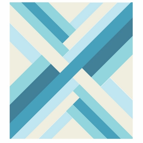 Blue Maypole Quilt Kit Featuring Mod Basics' Solids