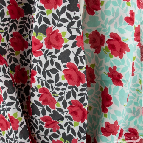 Bonnie & Camille for Moda, Little Snippets, LAWN, Vintage Rose Charcoal