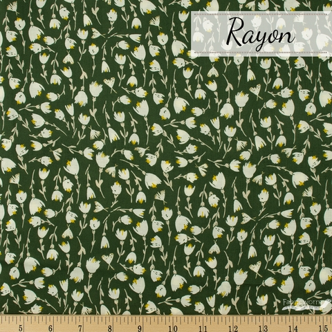 Bonnie Christine for Art Gallery, The Open Road Rayon, Discovered Foliage