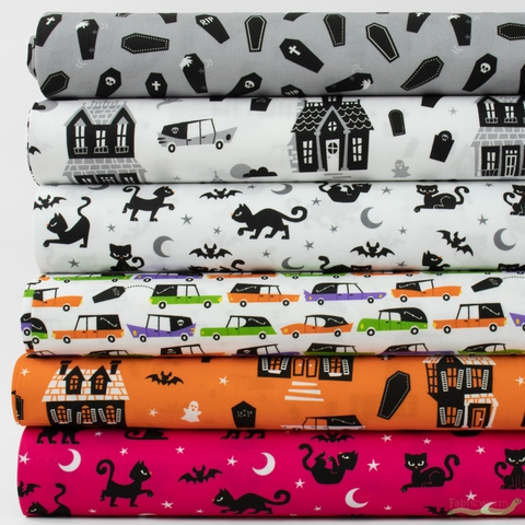 Caleb Gray for Robert Kaufman, Eerie Alley in FAT QUARTERS 6 Total