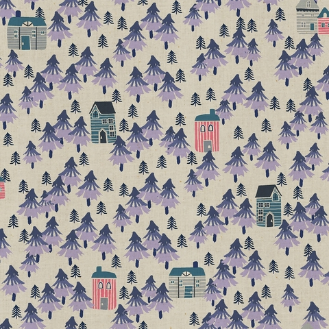 Callie and Co. for Cotton + Steel, Chill Out, Nature Walk Unbleached Purple Haze