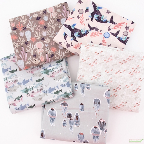 Callie and Co. for Cotton + Steel, Kaikoura, Starfish in FAT QUARTERS 5 Total