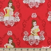 Camelot Fabrics, Beauty and The Beast, Belle Ruby