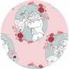 Camelot Fabrics, Beauty and The Beast, Love Light Pink