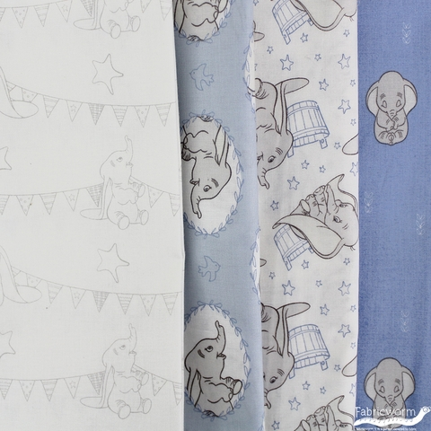 Camelot Fabrics, Dumbo, Frames Light Blue