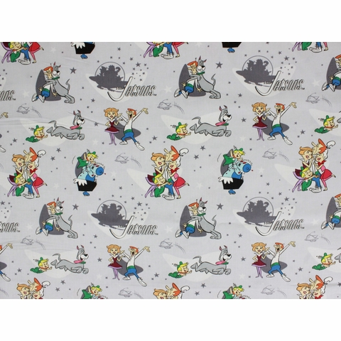 Camelot Fabrics, Jetsons, Family Love Grey