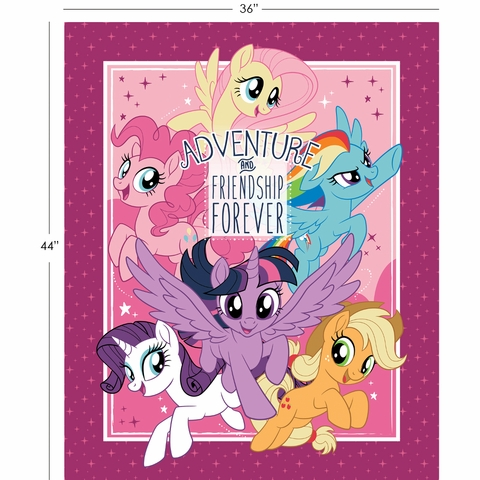 "Camelot Fabrics, My Little Pony, Adventure and Friendship Multi (36"" Panel)"