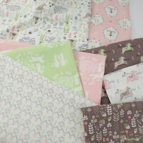 Camelot Fabrics, Pretty Little Woods, Friend Outlines Green