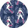 Camelot Fabrics, Wonder Woman, Poses Navy